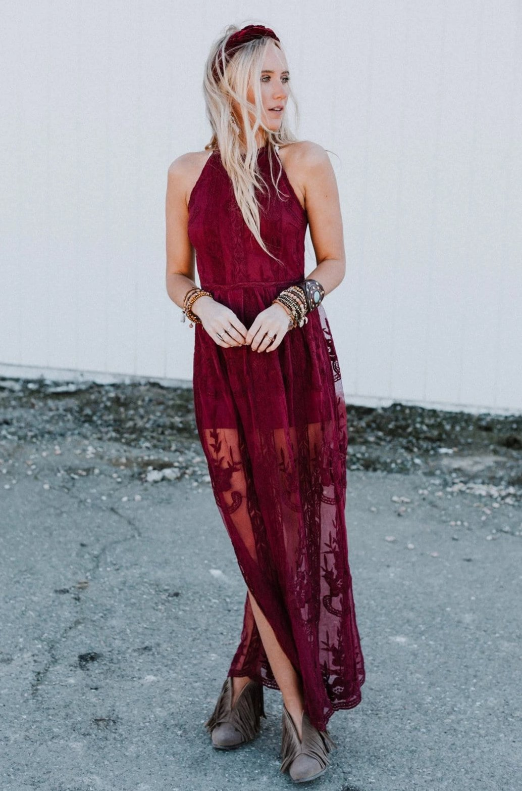Image of Cassidy Lace Jumpsuit