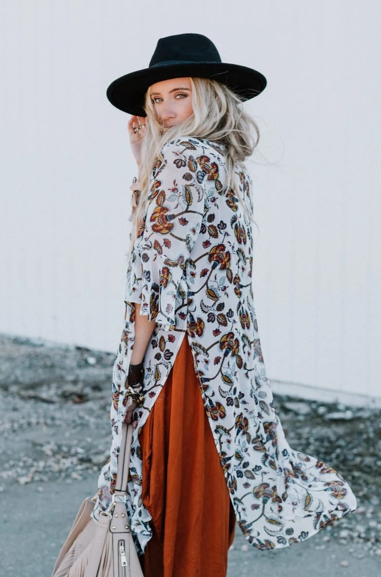 Image of Stacey Floral Kimono
