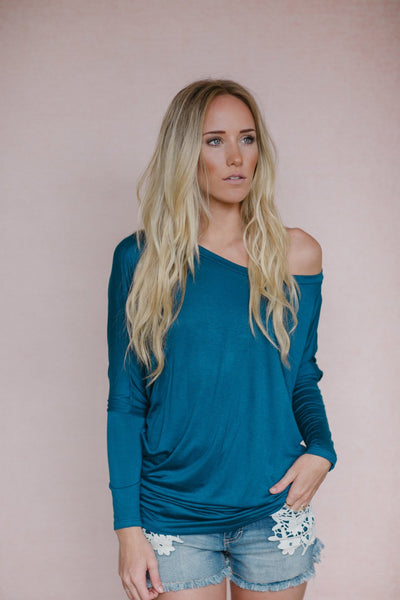 Our Best Dolman - Teal-clothing-Affordable Online Boutique | Cute + Trendy Women's Clothes
