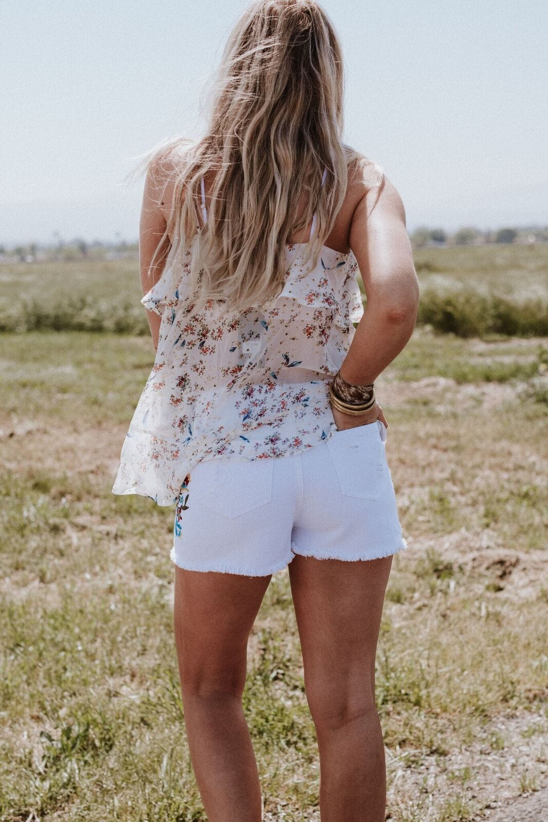 Folk Song Embroidered Shorts