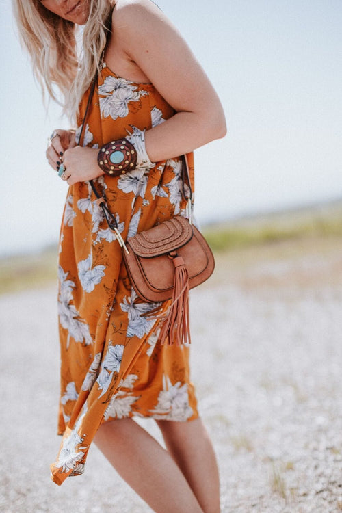 Rosemont Tassel Crossbody - Brown