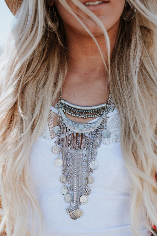 Oversized bohemian necklaces