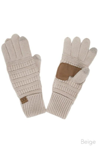 Knitted Texting Gloves - Mustard