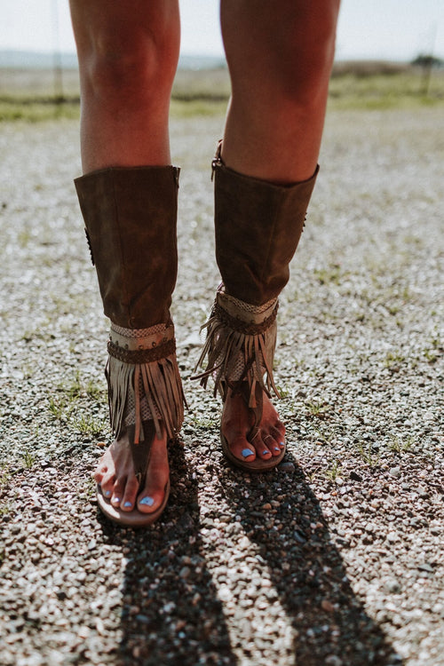 Ibiza Gladiator Boot Sandals Image