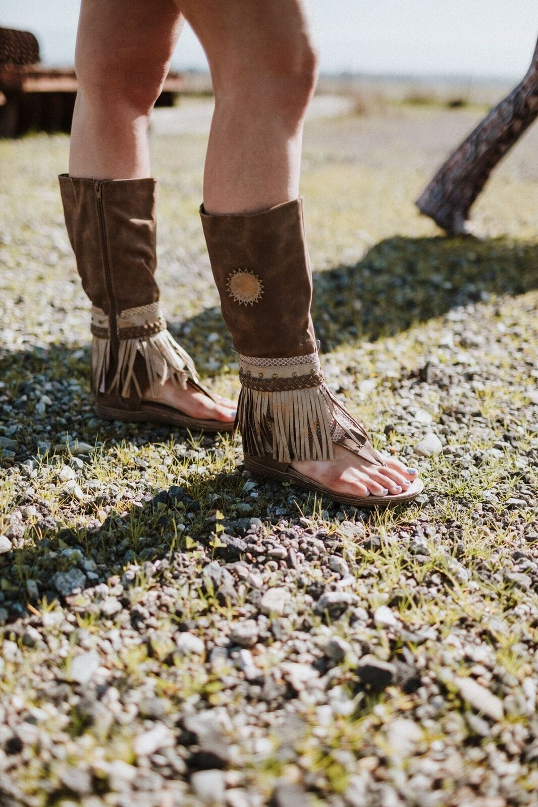 Ibiza Gladiator Fringe Sandals Tall