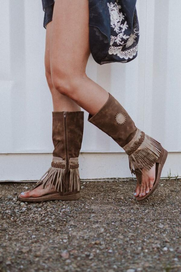 Ibiza Gladiator Fringe Boot Sandals