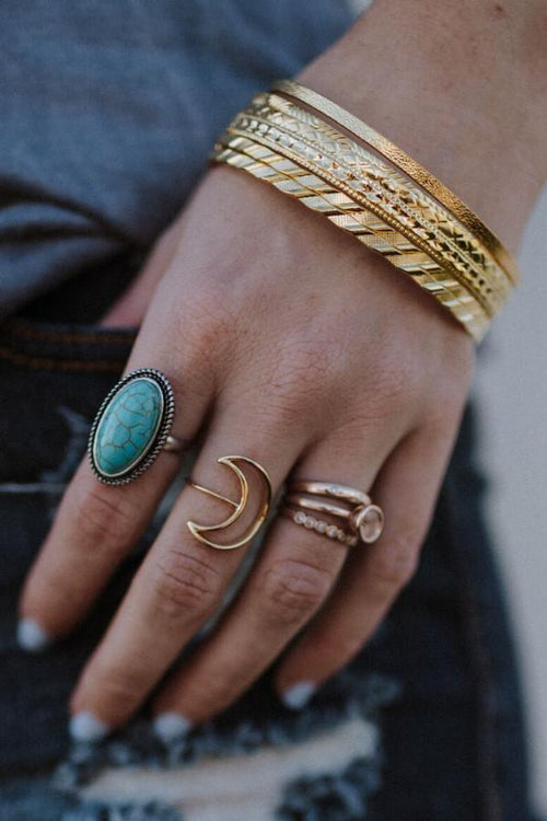 Golden Bangles Set