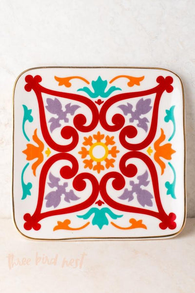 Moroccan Print Jewelry Tray