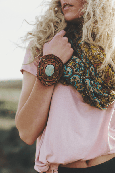 Boho Turquoise Cuff-Jewelry-Affordable Online Boutique | Cute + Trendy Women's Clothes - 1