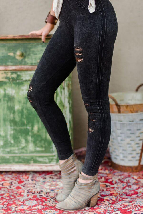 Little Rock Denim Leggings