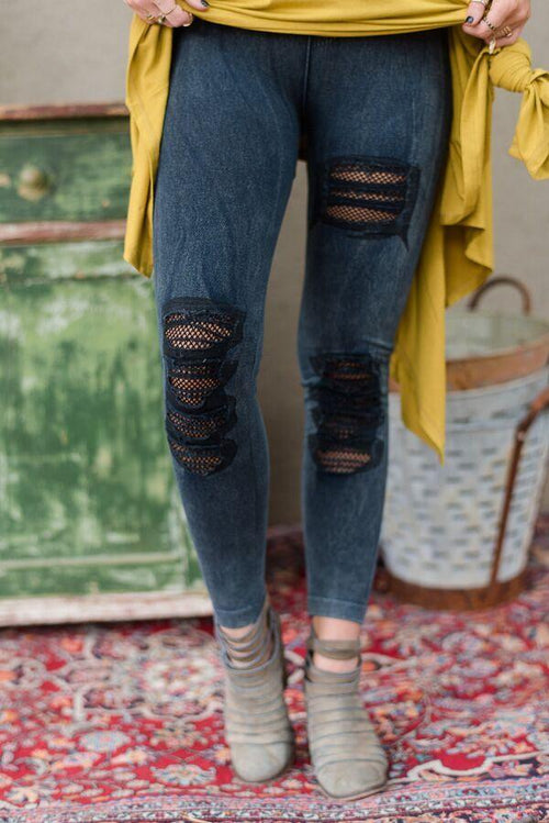 Rock it Up Denim Leggings