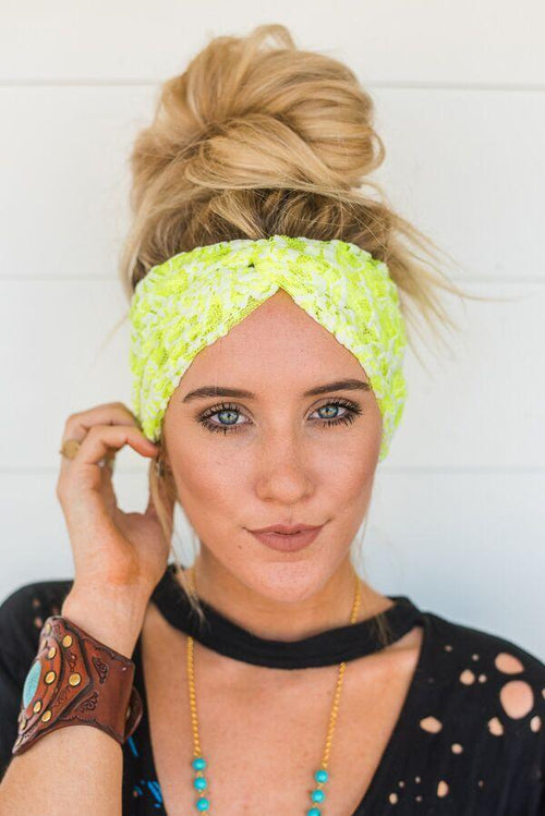 Neon Lace Turband
