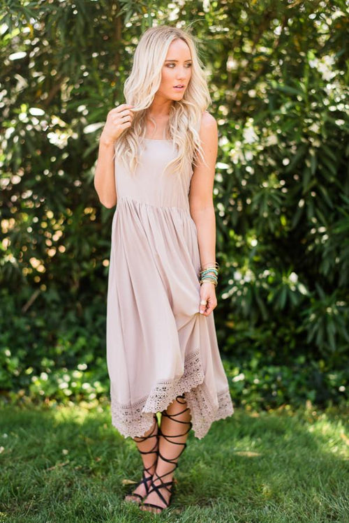 Lace Hem Slip Dress