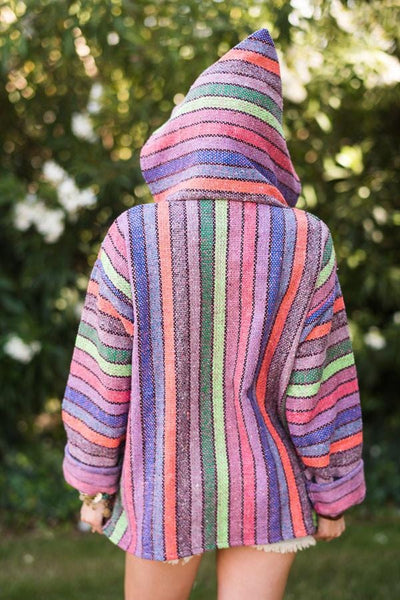 Baja Hoodies Mexican Blanket Jackets | Shop Boho Jackets from Three Bird Nest  Back of Jacket