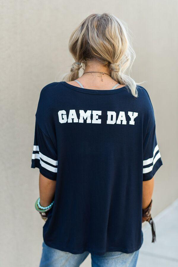 Game Day Jersey Tee - Navy