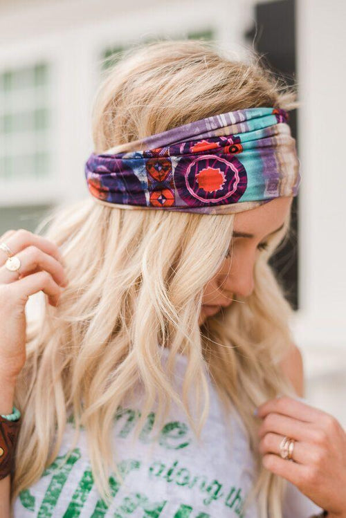 Purple Wonders Wide Head Wrap
