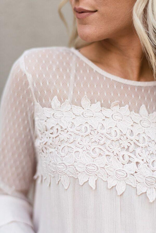 Sweet Innocence Lace Top