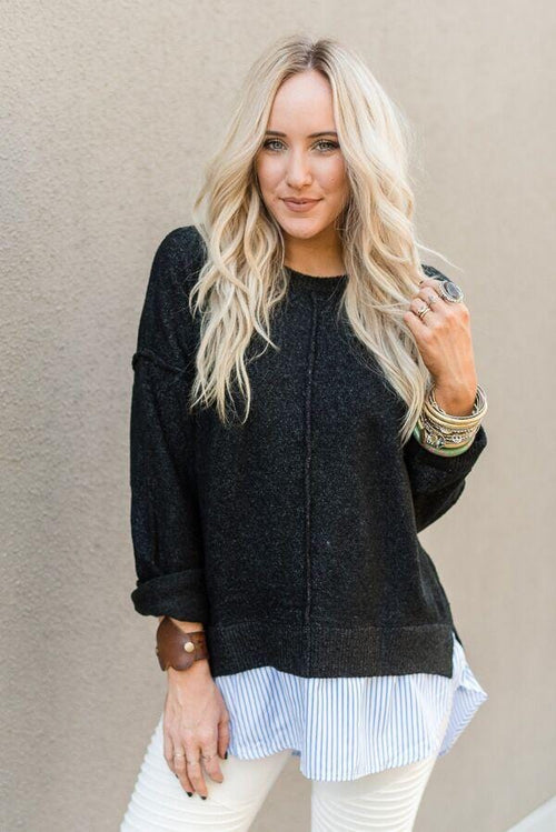 Polished Layers Pullover Sweater