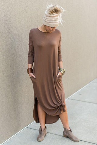 Houston Sweater Dress - Gray