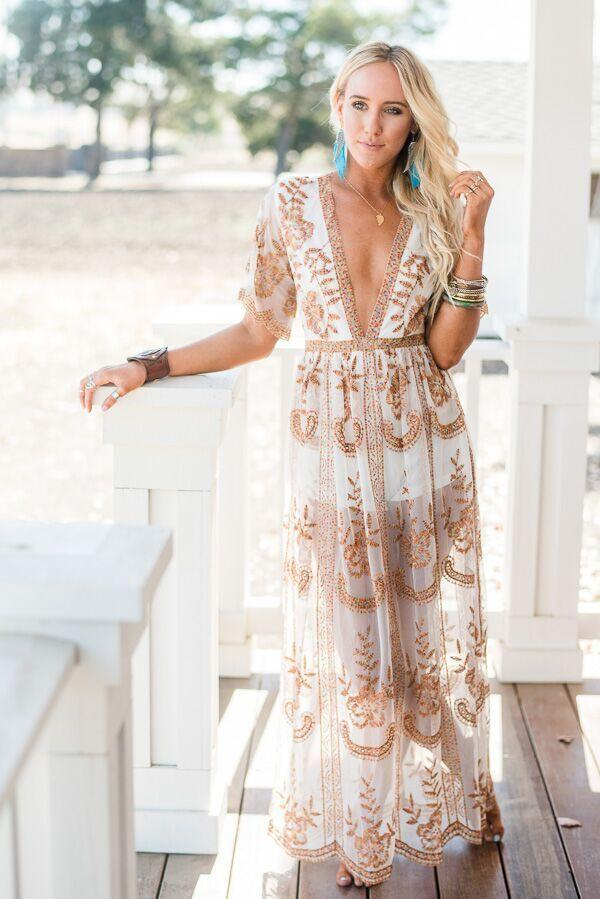 In the Deep Lace Maxi Romper