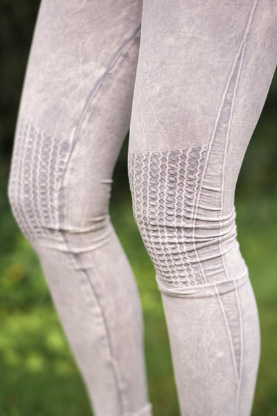 Moto Knee Gray Jeggings
