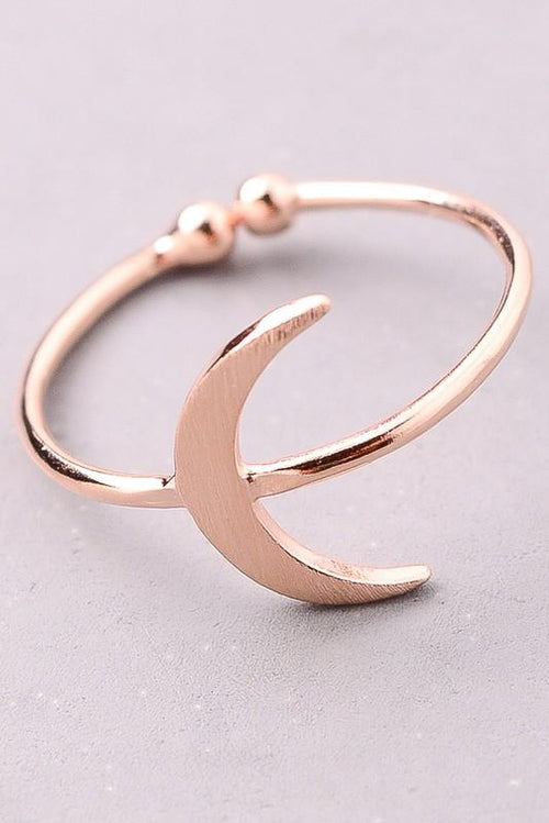 Spiritual Crescent Moon Ring