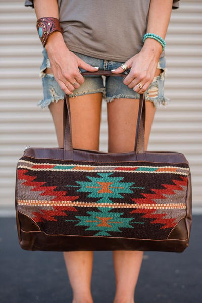 Patterned Southwestern Oversized Handbag Vintage INspired