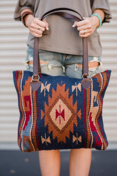 Southwestern Wool Patterned Handbags Bohemian Travel Purses