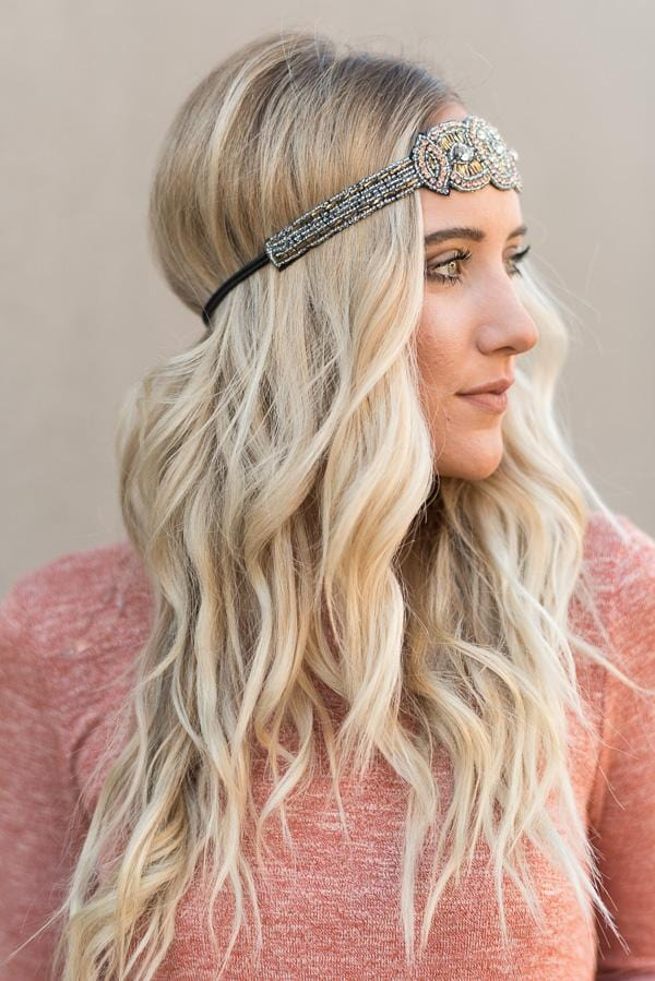 Gemini Jeweled Beaded Headband