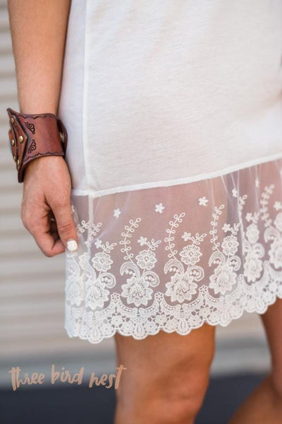 Ivory Lace Slip Dress Extender