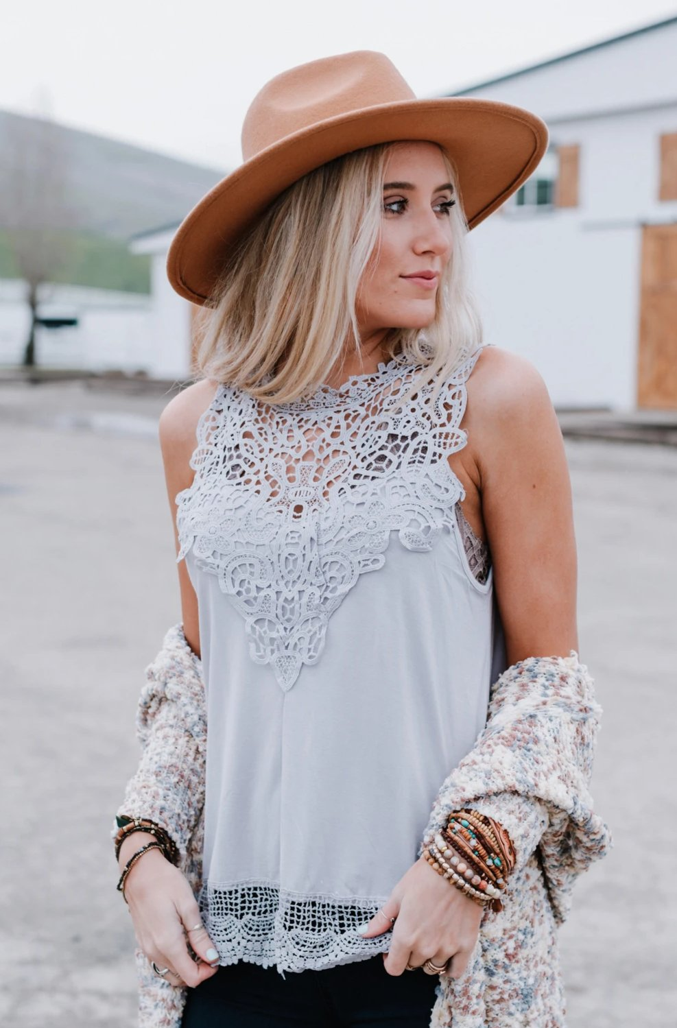 Image of Clyde Sleeveless Lace Top