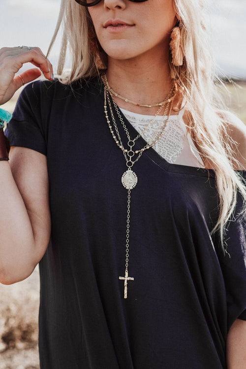 virgin mary rosary boho necklaces