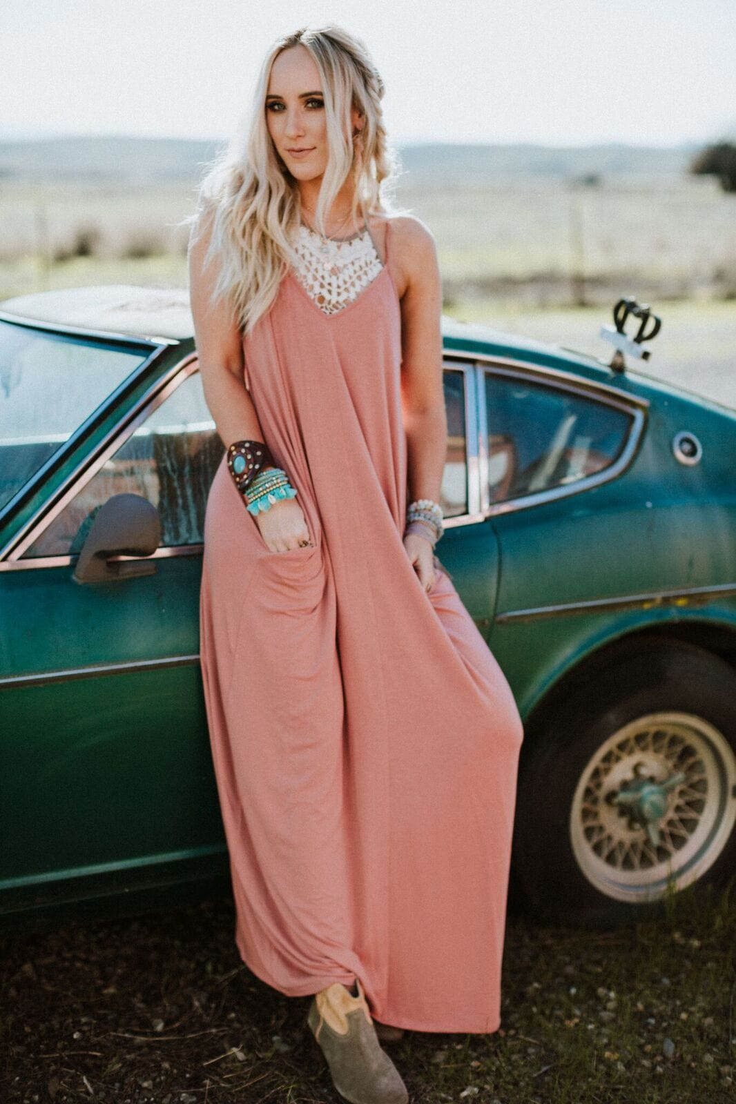 Boho maxi dresses for women