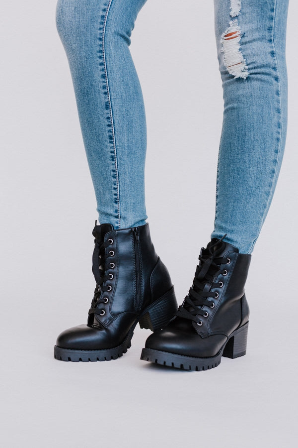 On Stomping Grounds Ankle Lug Boot by Three Bird Nest