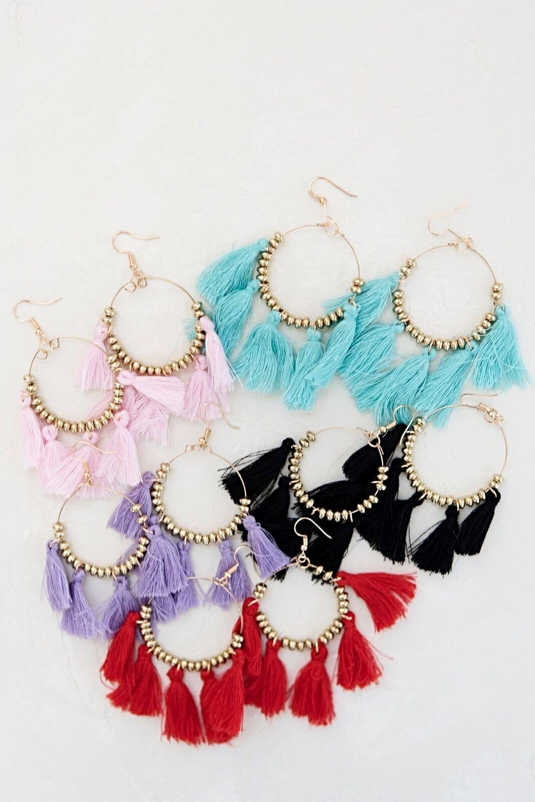 Steal The Show Tassel Earrings - Pink