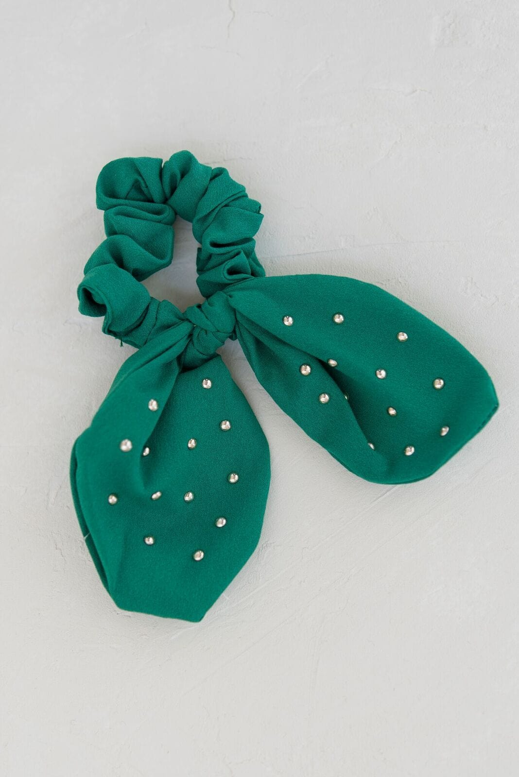 Knotted Bow Scrunchie - Green