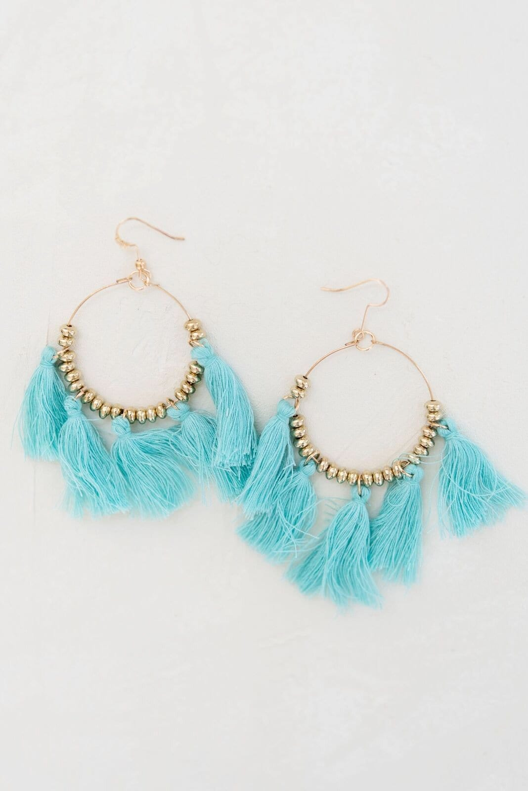 Steal The Show Tassel Earrings - Mint