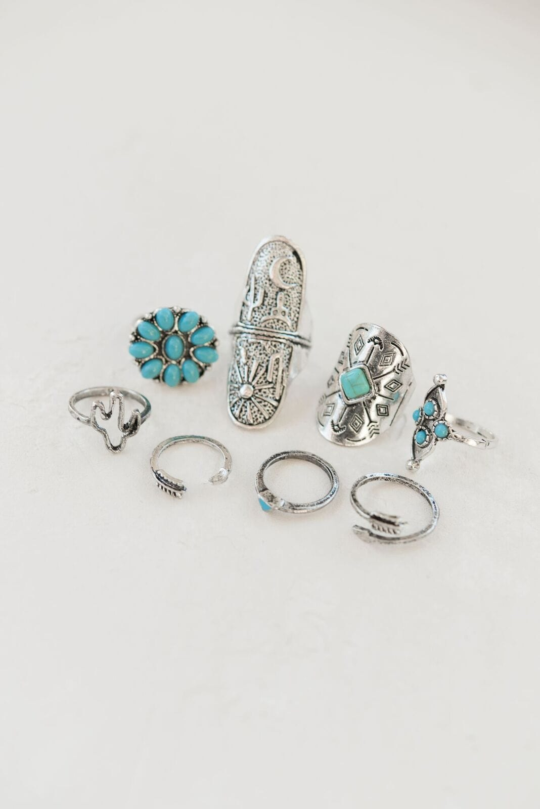 navajo size turquoise em rings rectangular teller shop img ring