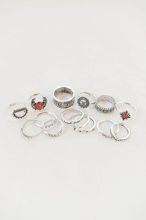 Rising Sun Ring Set