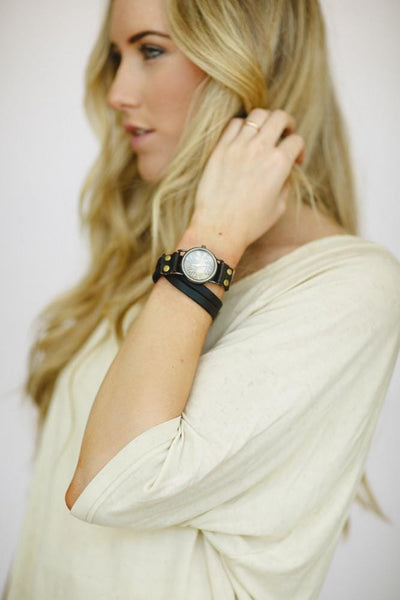 Wrap Leather Bracelet Watch