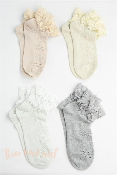 Pretty Lace Ankle Socks