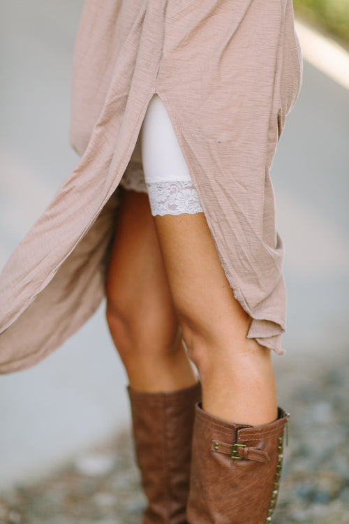 Lace Layering Shorts - Nude