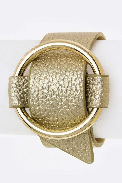 Golden Circle Wrap Cuff - Gold