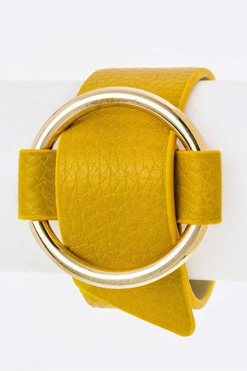 Golden Circle Wrap Cuff - Mustard
