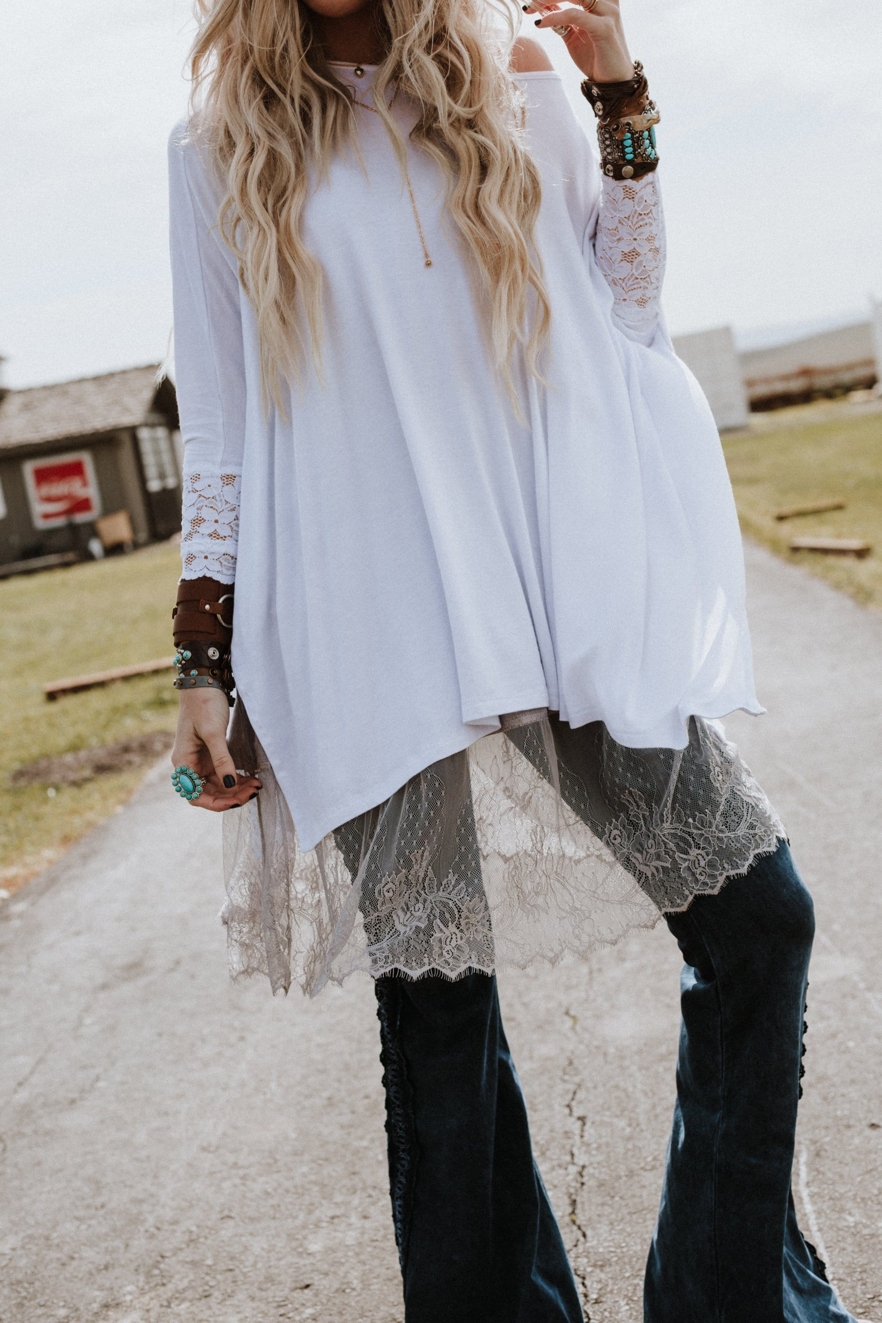 tunic boho layering tops and slips