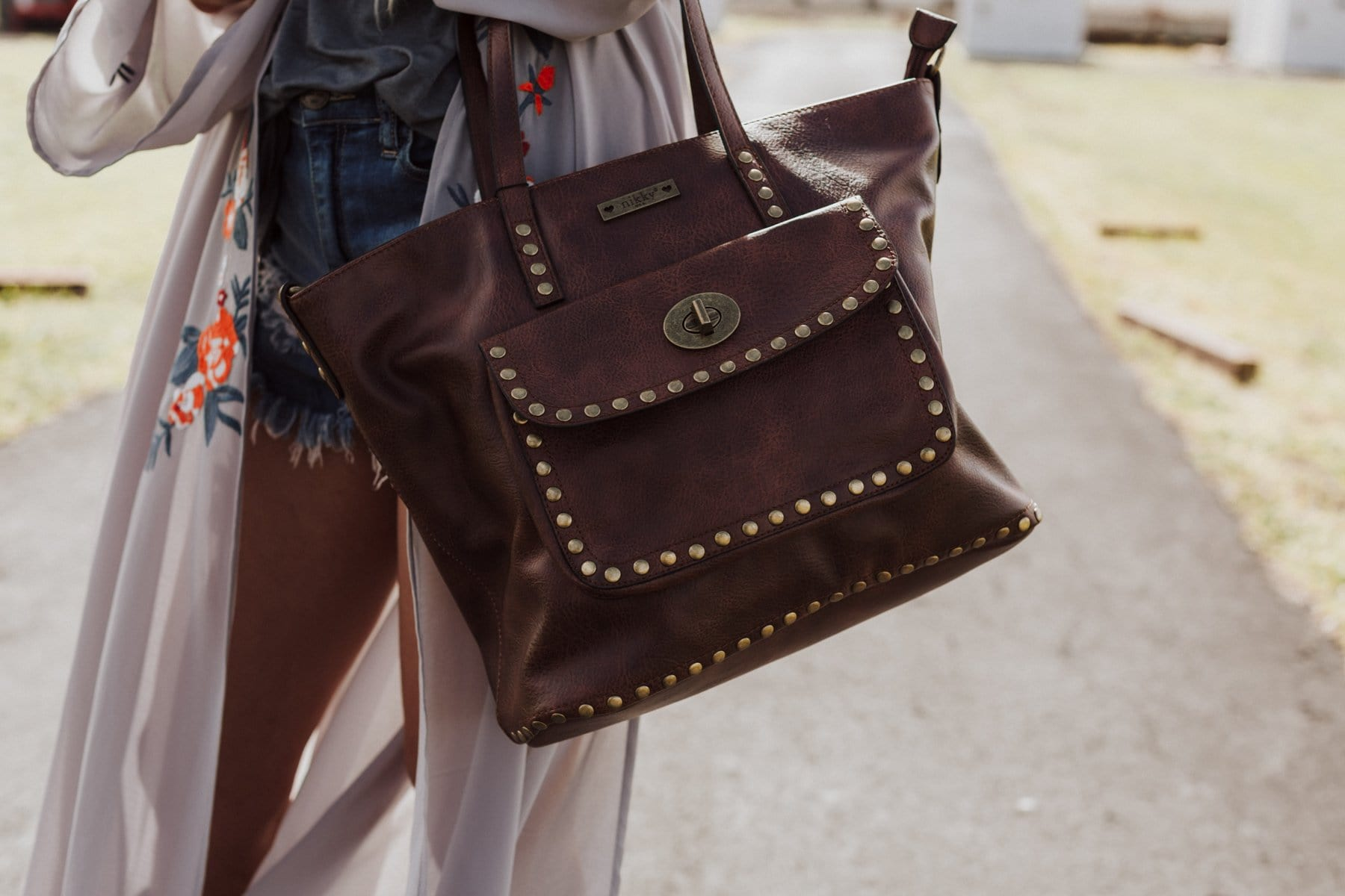 Day Trip Studded Tote Bag