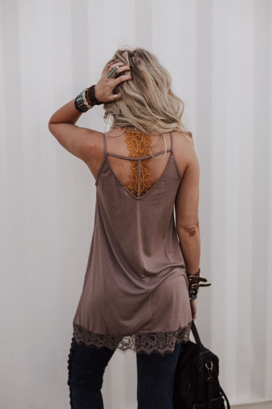 Take Me Away Lace Tunic - Mushroom