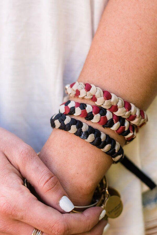 Leather Friendship Bracelet
