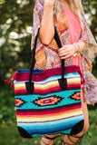Southwestern Blanket Leather Purses showing Bohemian Style fro Three Bird Nest
