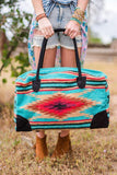 Bohemian blanket southwestern oversized tote from Three Bird Nest  Image with Model